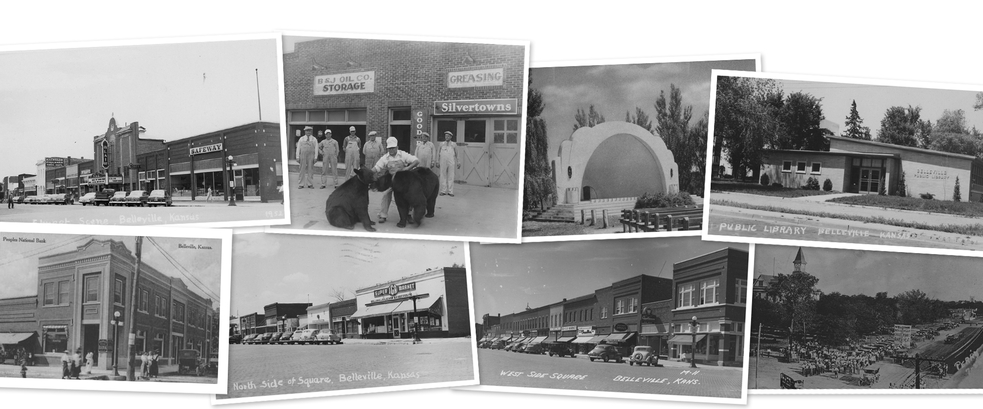 photo grouping of historical black and white photos